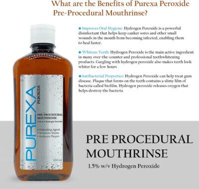1500 peroxide pre procedural rinse 500ml x 3 set of 3 purexa original imafxbfpnrwfr9qz 1